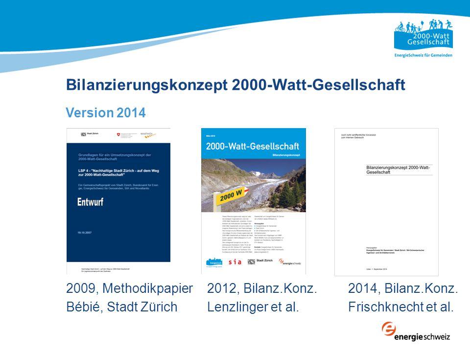 Bilanzierungskonzept 2000-Watt-Gesellschaft