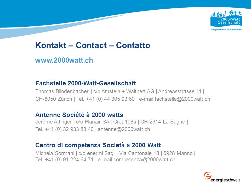 Kontakt – Contact – Contatto