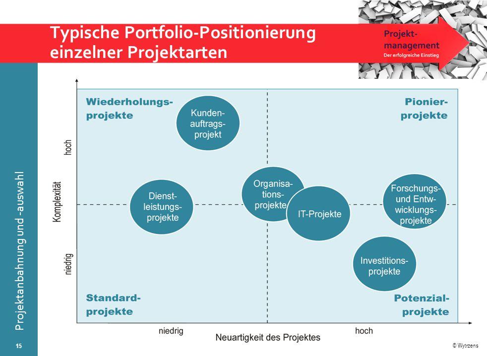 Typische Portfolio-Positionierung einzelner Projektarten