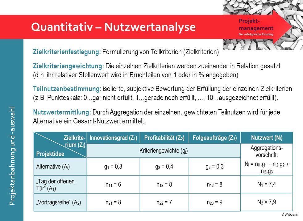 Quantitativ – Nutzwertanalyse