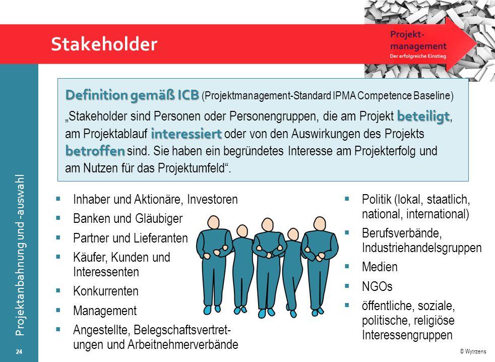 Stakeholder Definition gemäß ICB (Projektmanagement-Standard IPMA Competence Baseline)