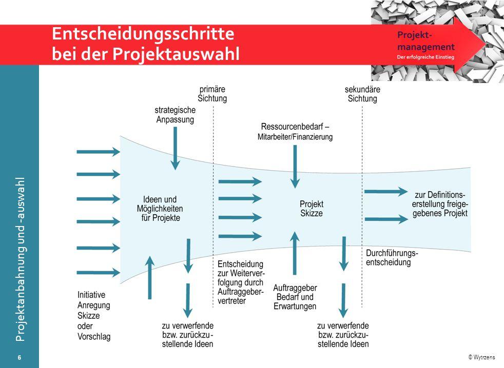 Entscheidungsschritte bei der Projektauswahl