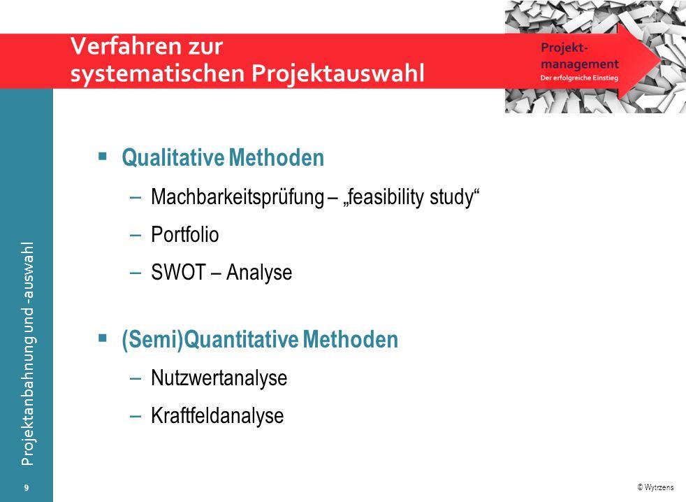 Verfahren zur systematischen Projektauswahl