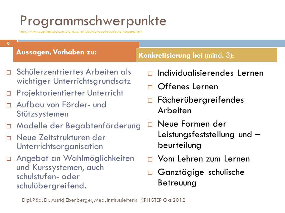Programmschwerpunkte http://www. neuemittelschule