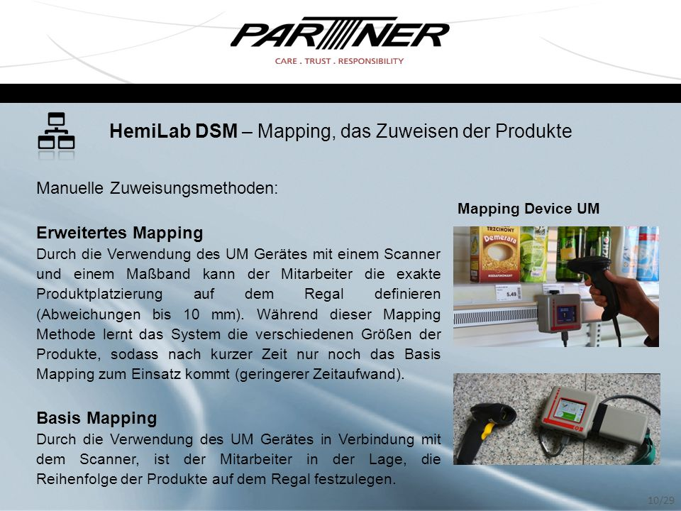 HemiLab DSM – Mapping, das Zuweisen der Produkte