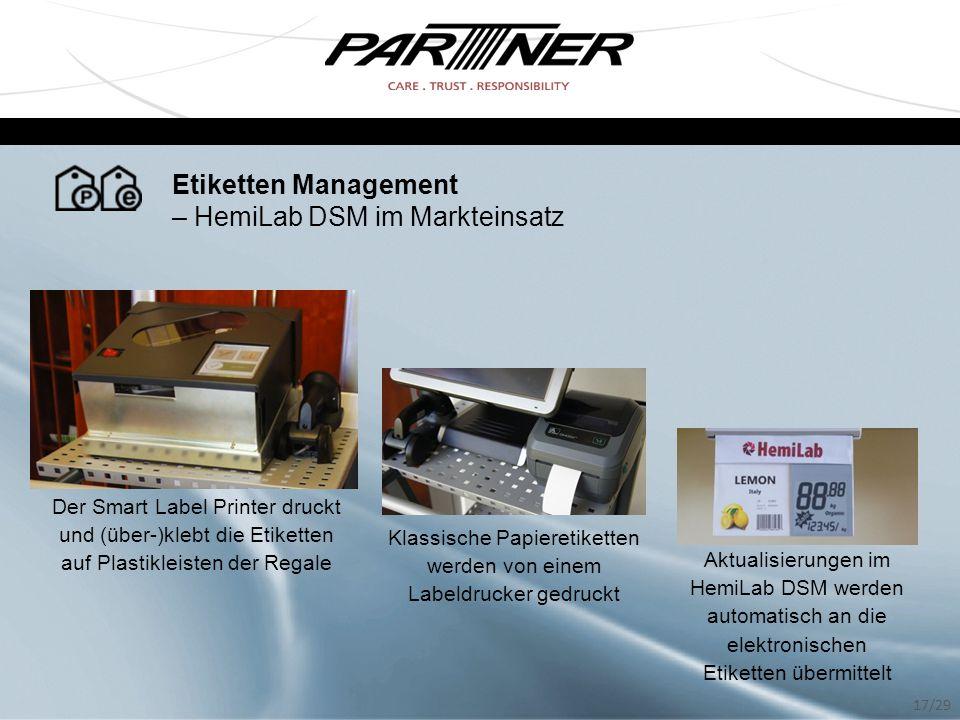 Klassische Papieretiketten werden von einem Labeldrucker gedruckt