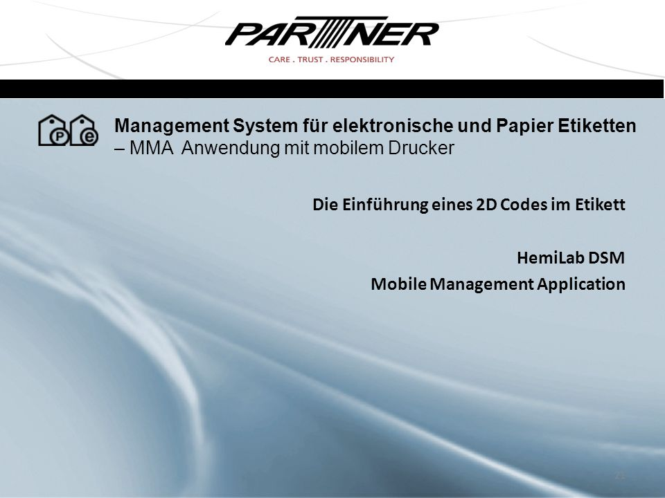Management System für elektronische und Papier Etiketten