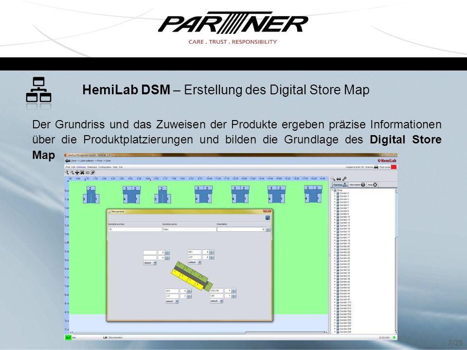 HemiLab DSM – Erstellung des Digital Store Map
