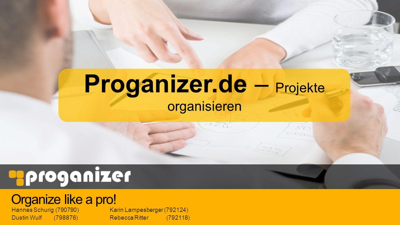 Proganizer.de – Projekte organisieren