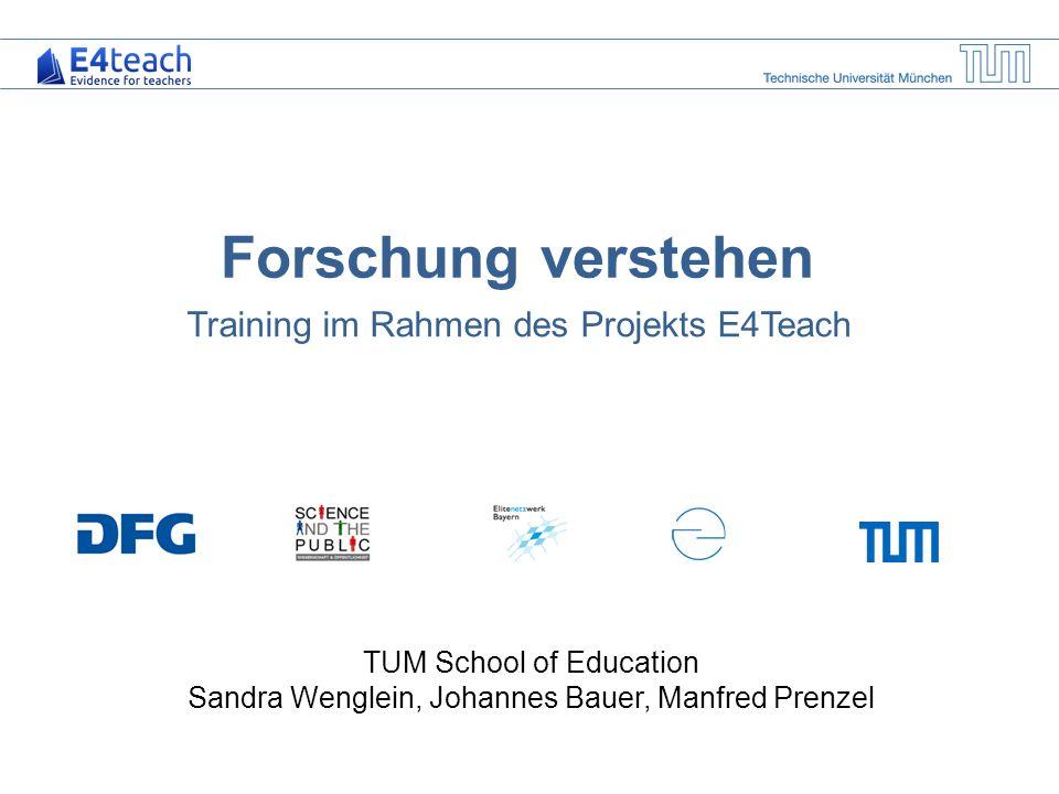 Training im Rahmen des Projekts E4Teach
