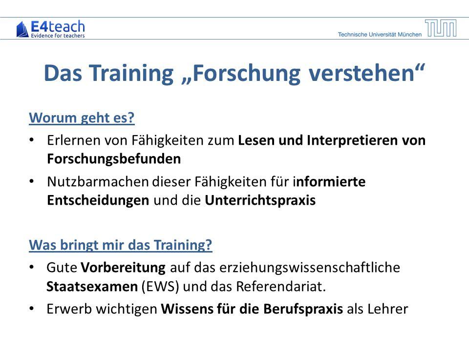 """Das Training """"Forschung verstehen"""