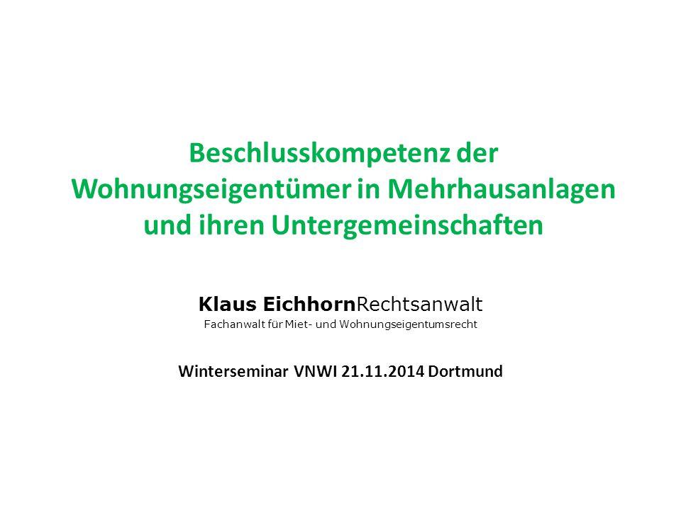Winterseminar VNWI 21.11.2014 Dortmund