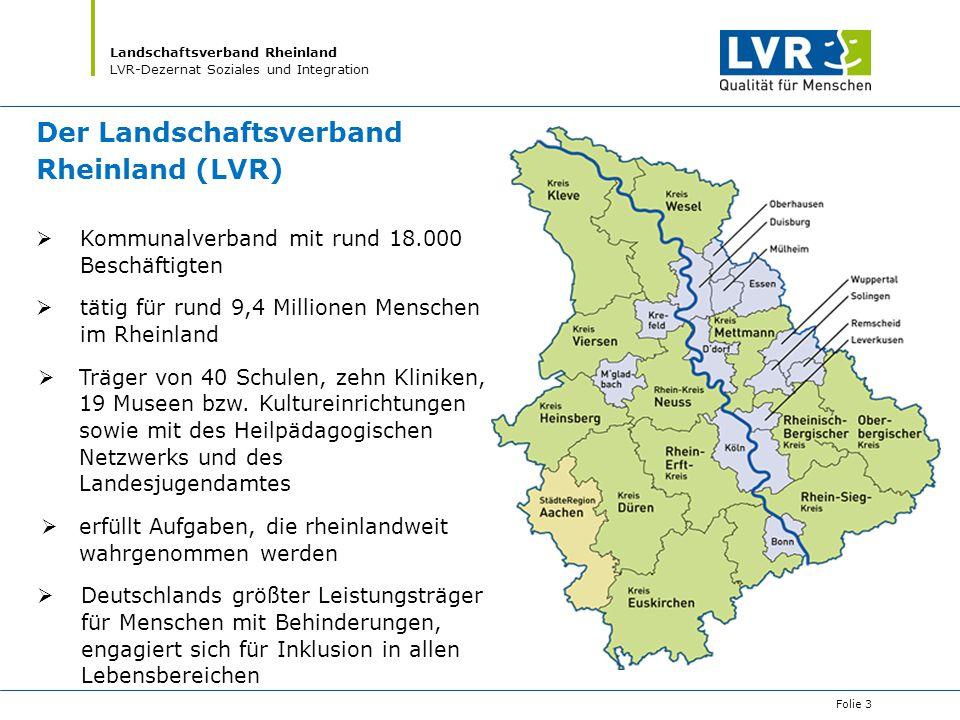 Der Landschaftsverband Rheinland (LVR)