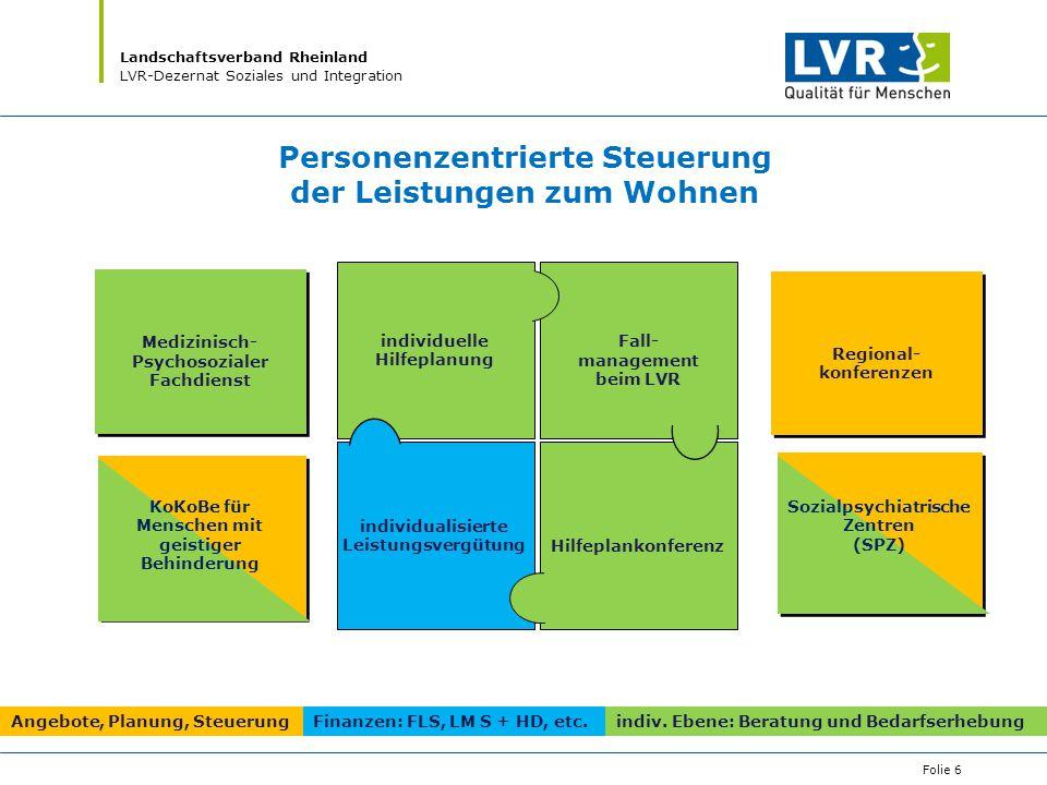 Personenzentrierte Steuerung der Leistungen zum Wohnen