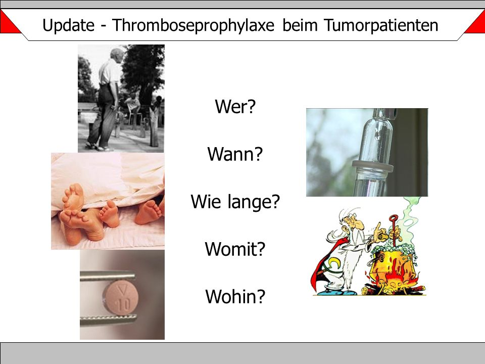 Update - Thromboseprophylaxe beim Tumorpatienten