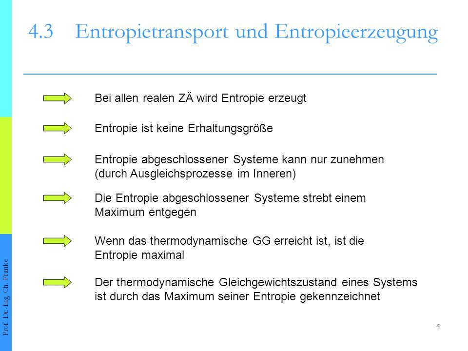 4.3 Entropietransport und Entropieerzeugung