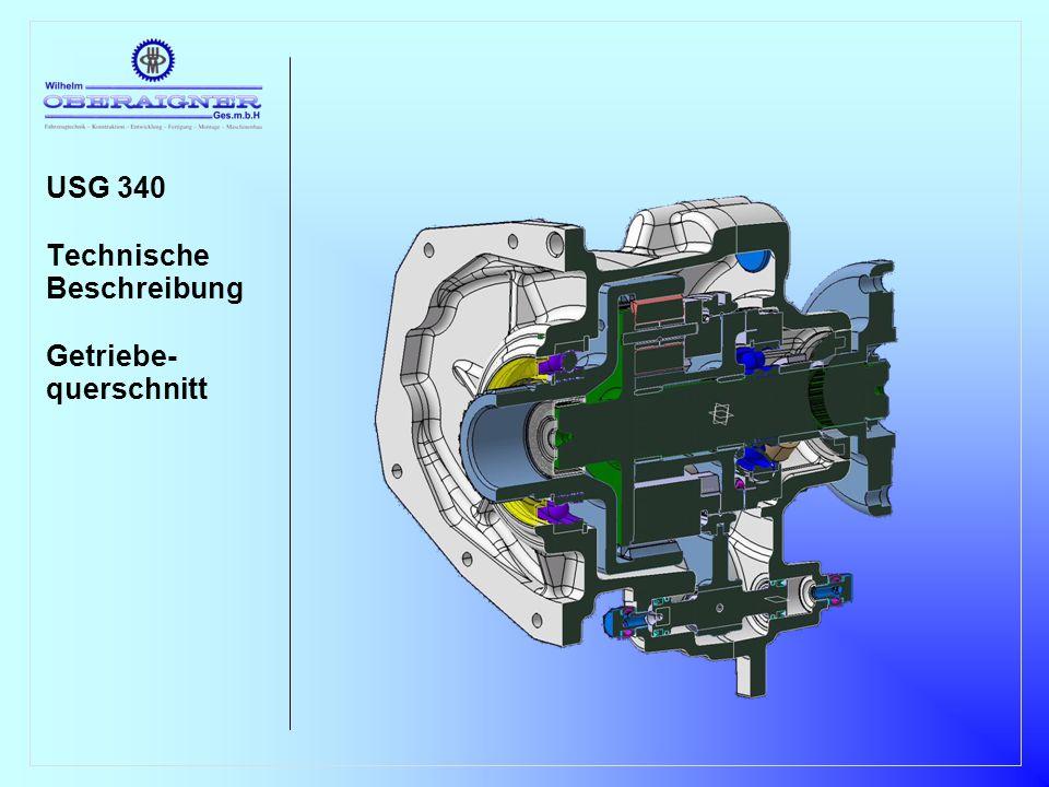 USG 340 Technische Beschreibung Getriebe- querschnitt