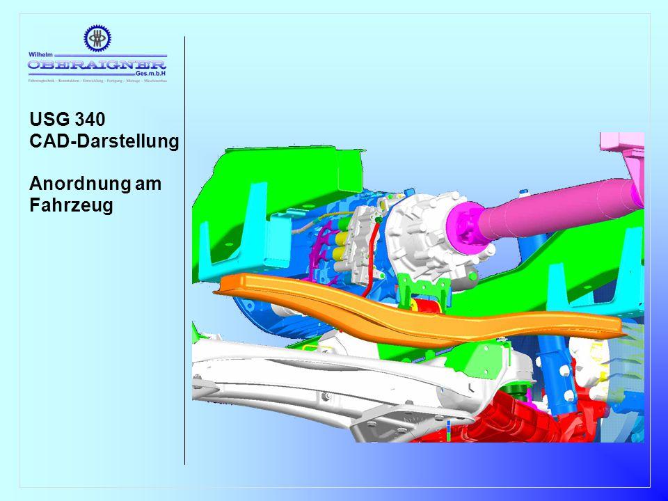 USG 340 CAD-Darstellung Anordnung am Fahrzeug