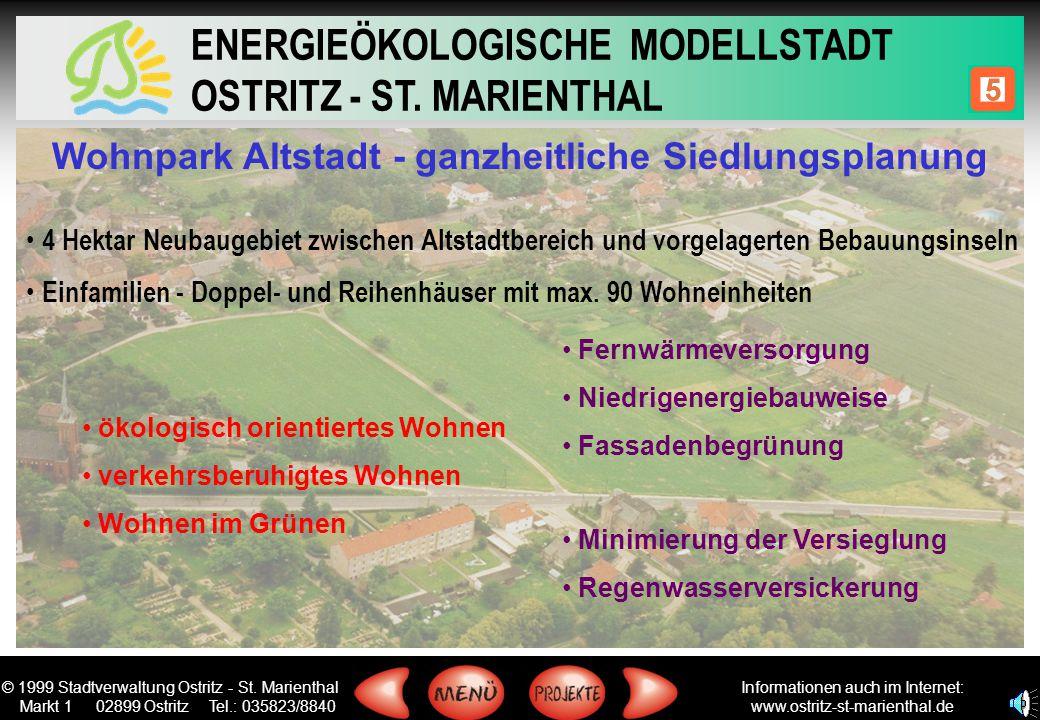 Wohnpark Altstadt - ganzheitliche Siedlungsplanung