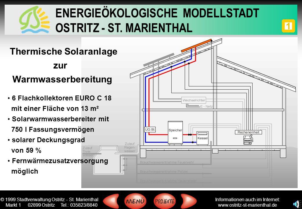 Thermische Solaranlage zur Warmwasserbereitung
