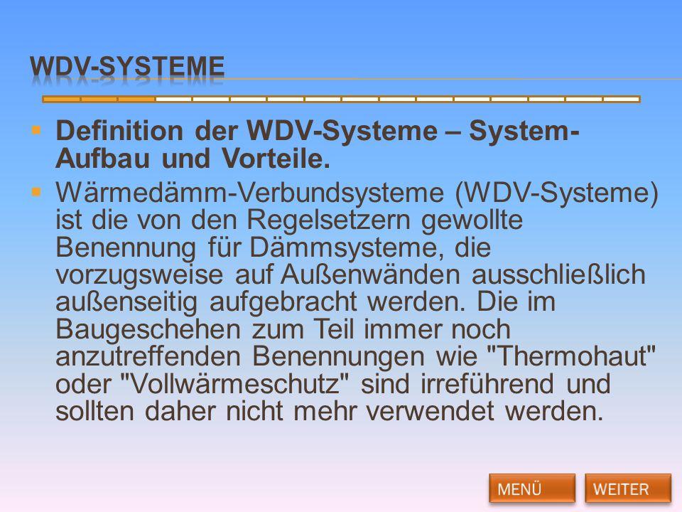 Definition der WDV-Systeme – System-Aufbau und Vorteile.