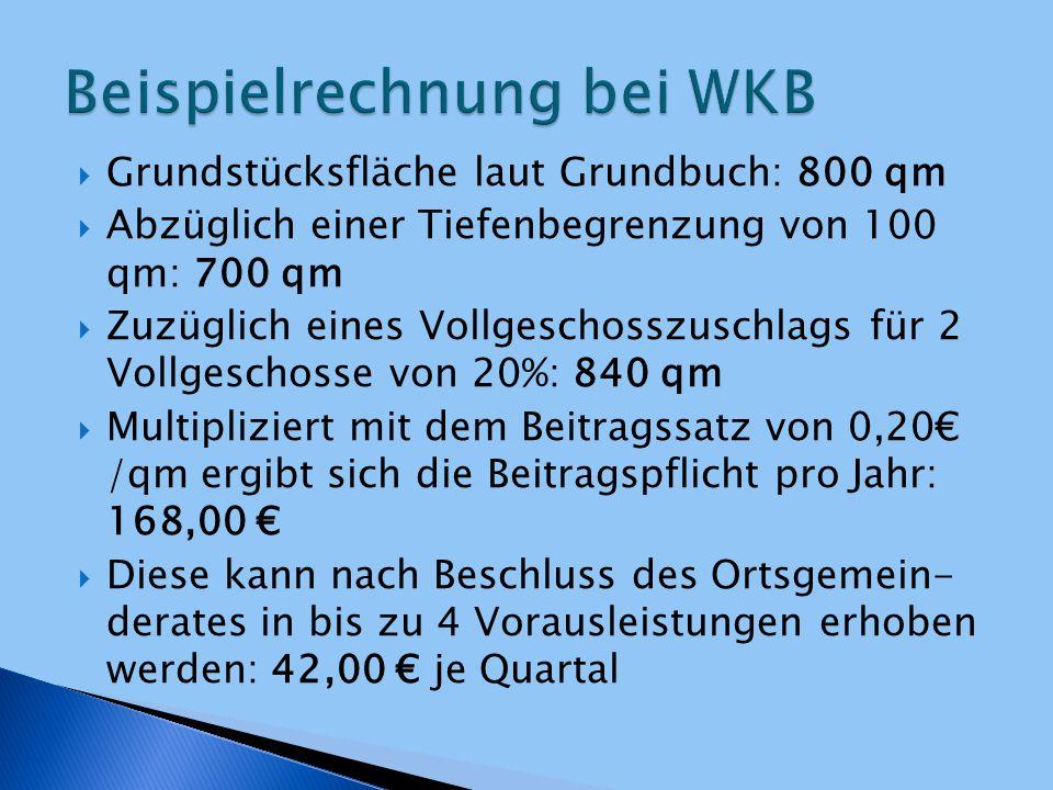 Beispielrechnung bei WKB
