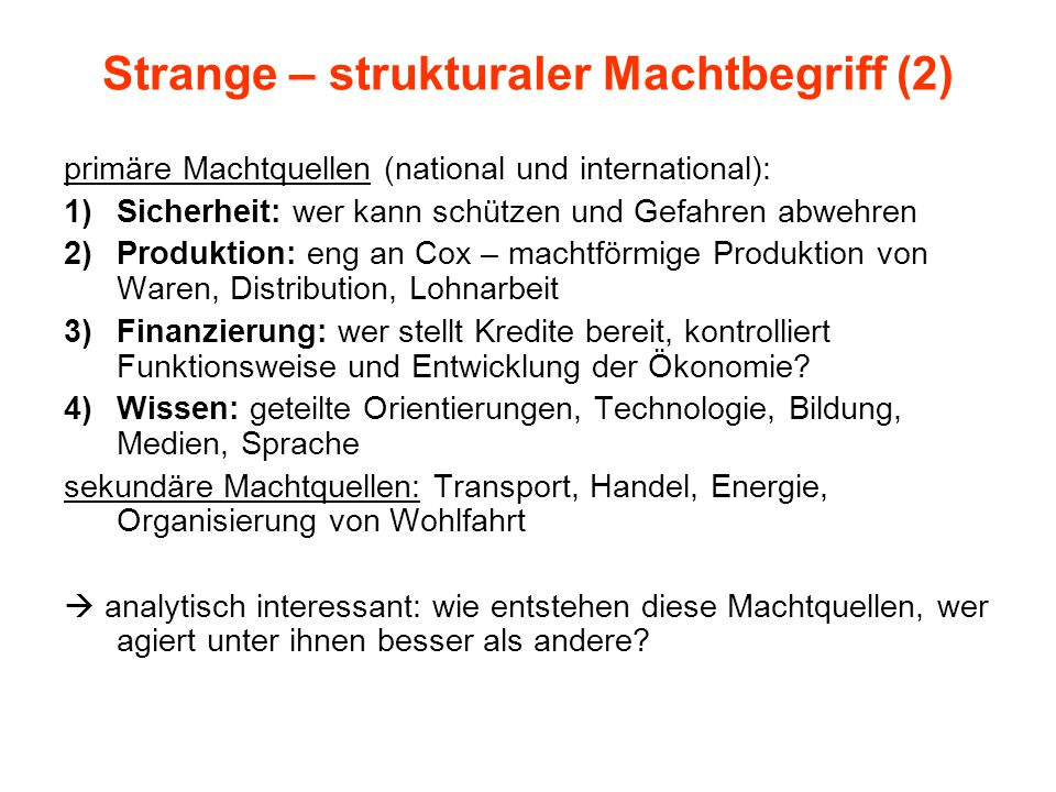 Strange – strukturaler Machtbegriff (2)