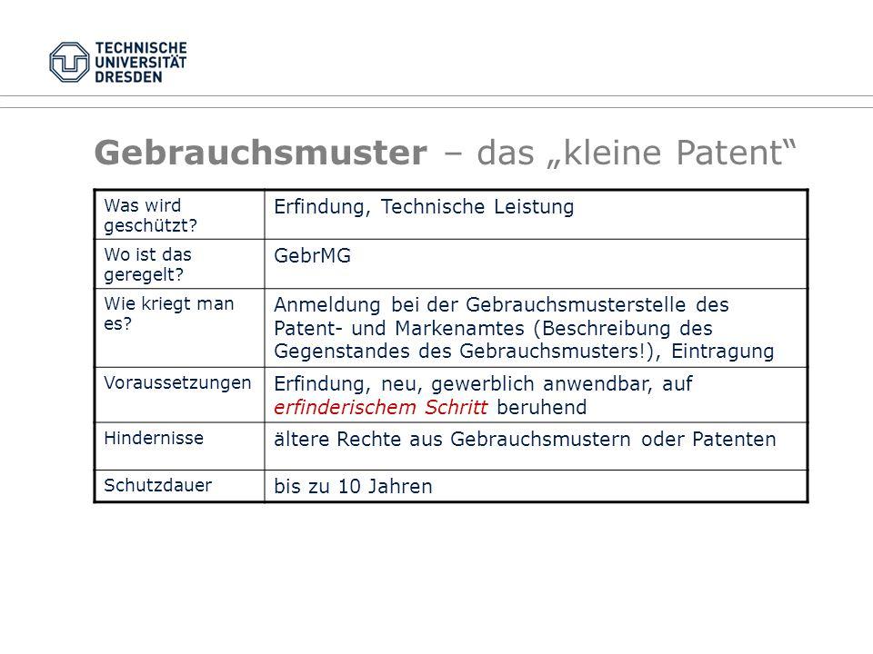 """Gebrauchsmuster – das """"kleine Patent"""