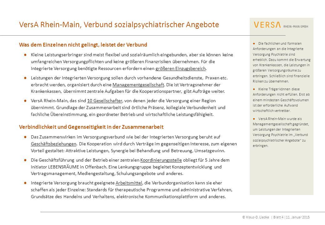 VersA Rhein-Main, Verbund sozialpsychiatrischer Angebote