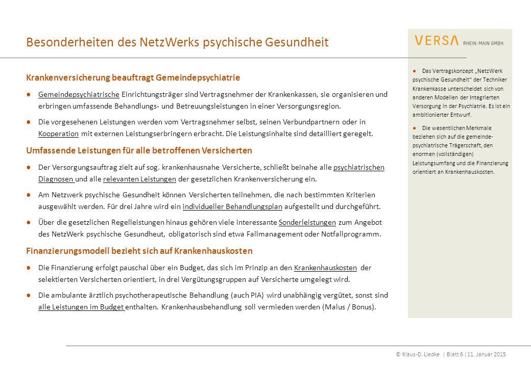 Besonderheiten des NetzWerks psychische Gesundheit