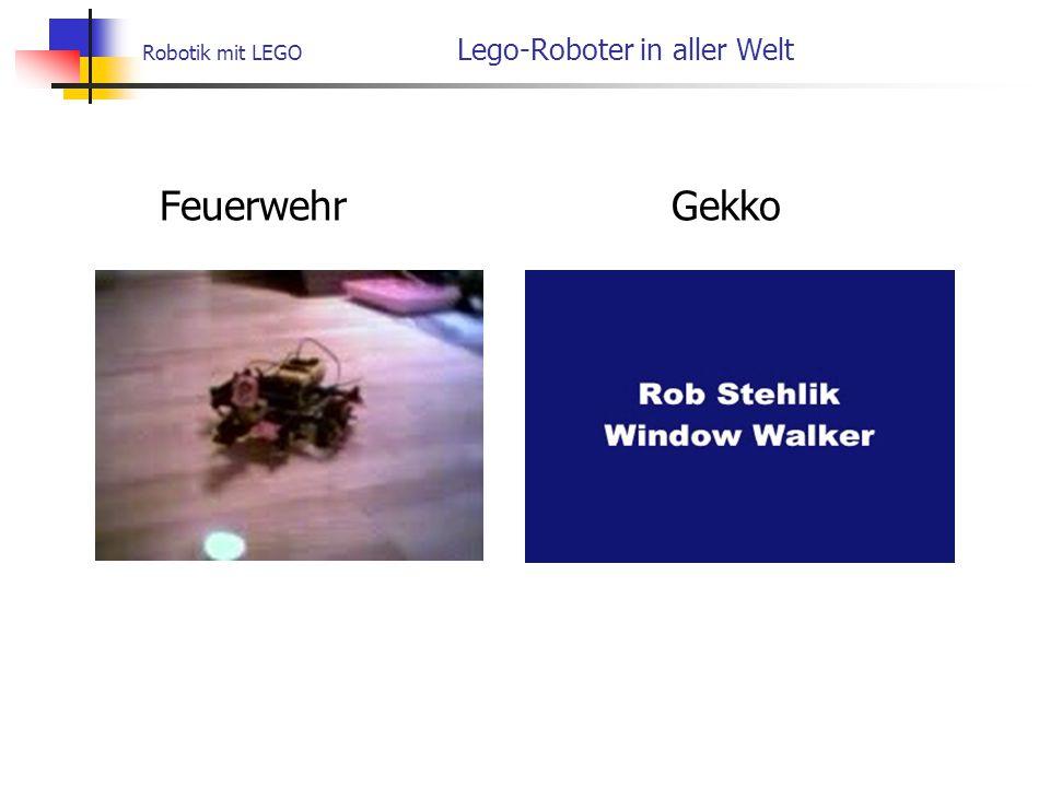 Robotik mit LEGO Lego-Roboter in aller Welt