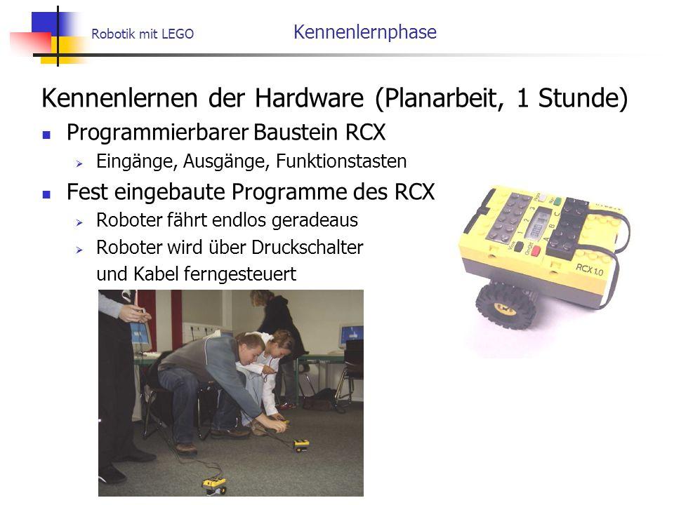 Robotik mit LEGO Kennenlernphase