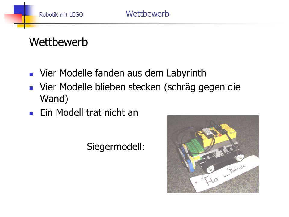 Robotik mit LEGO Wettbewerb