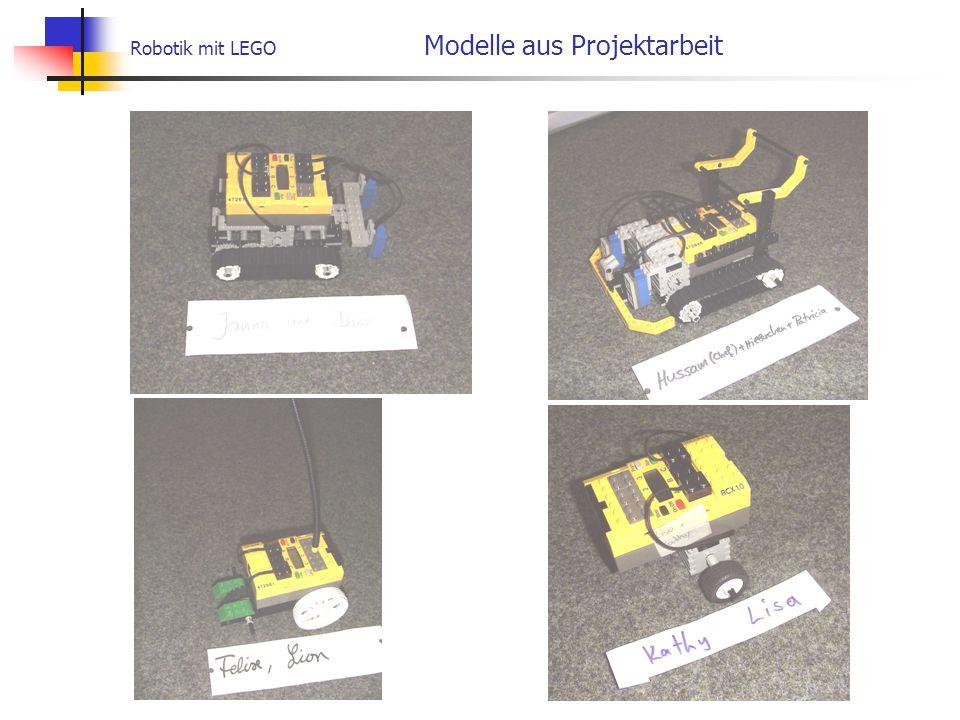 Robotik mit LEGO Modelle aus Projektarbeit