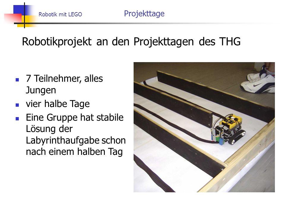 Robotikprojekt an den Projekttagen des THG