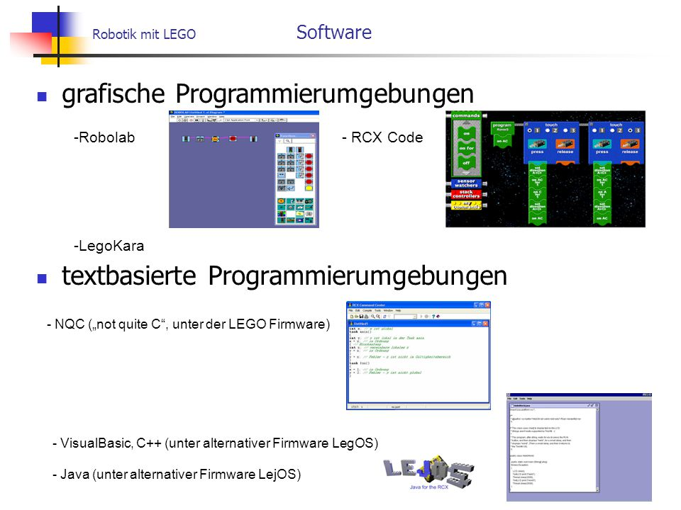 Robotik mit LEGO Software