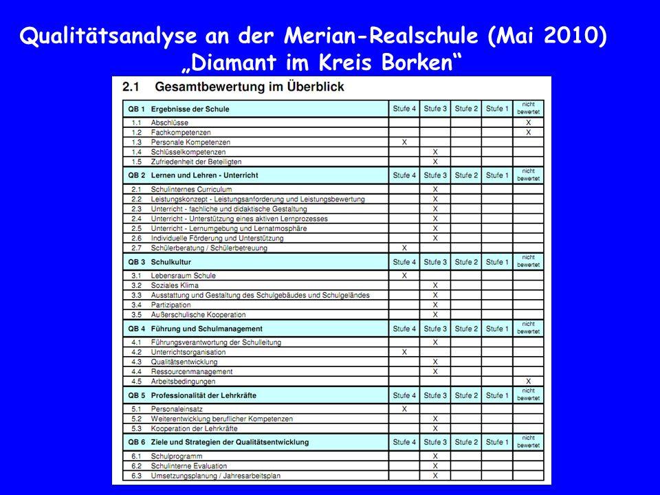 Qualitätsanalyse an der Merian-Realschule (Mai 2010)