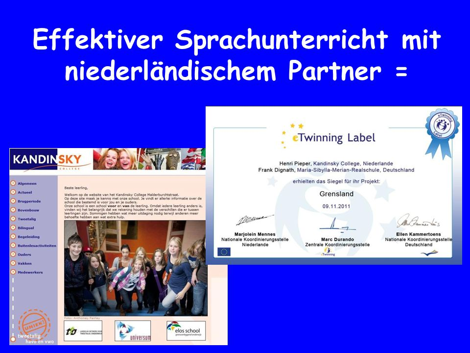 Effektiver Sprachunterricht mit niederländischem Partner =