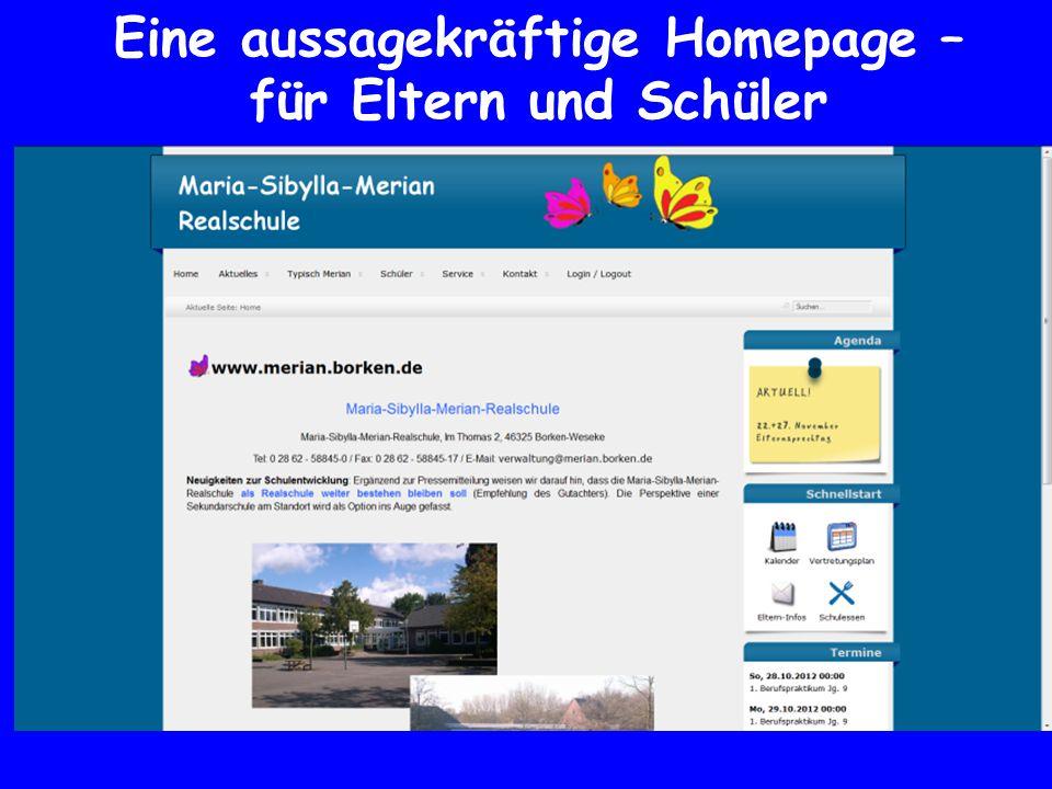 Eine aussagekräftige Homepage –für Eltern und Schüler