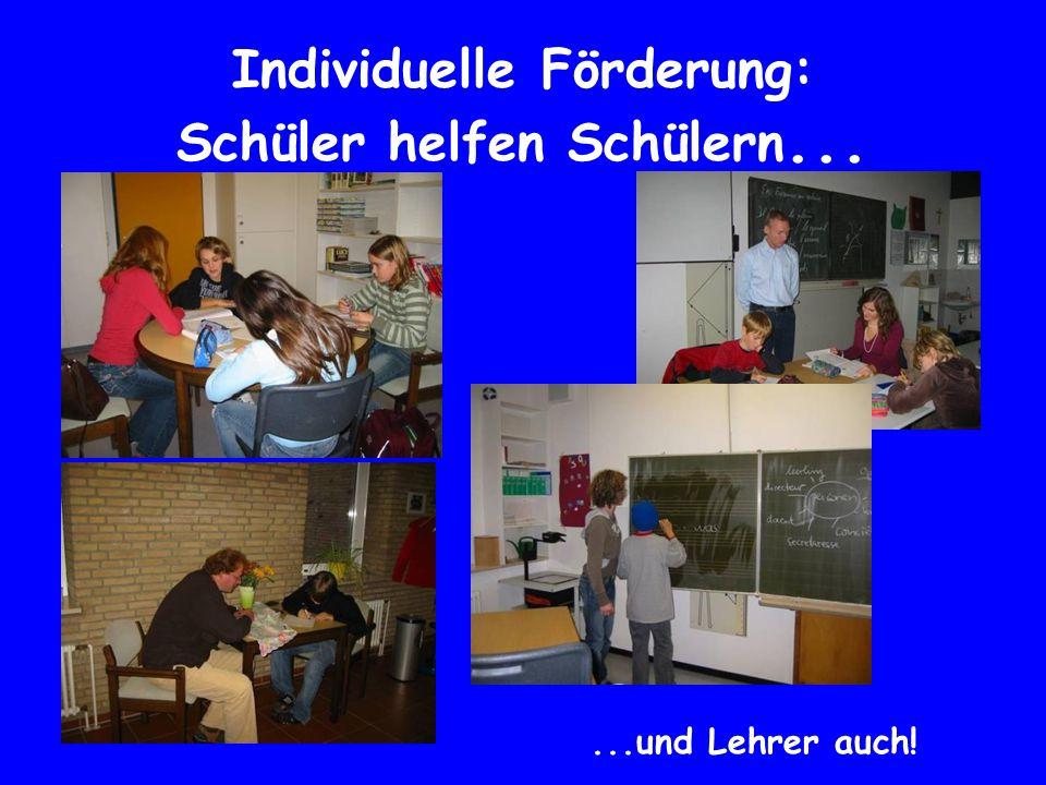Individuelle Förderung: Schüler helfen Schülern...