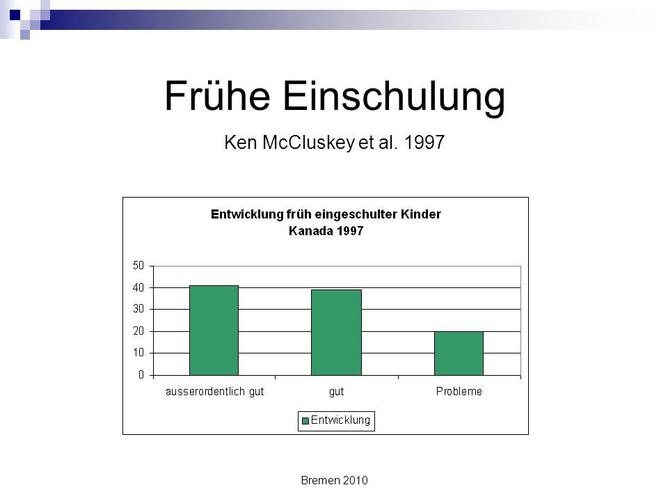Frühe Einschulung Ken McCluskey et al. 1997