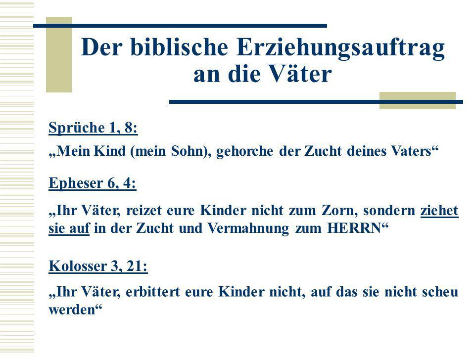 Der biblische Erziehungsauftrag an die Väter