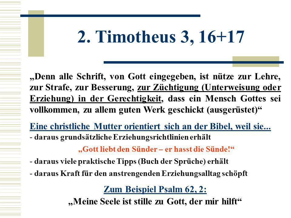2. Timotheus 3, 16+17