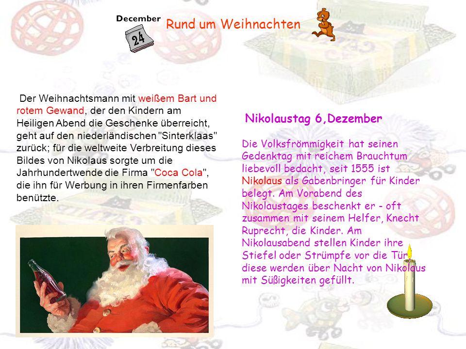 Rund um Weihnachten Nikolaustag 6,Dezember