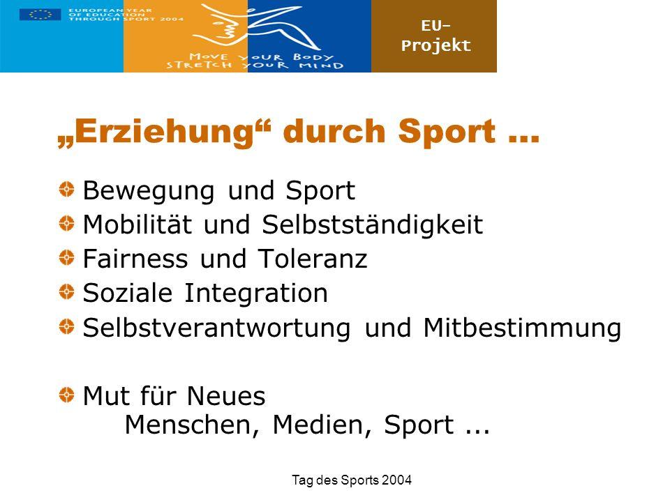 """""""Erziehung durch Sport ..."""