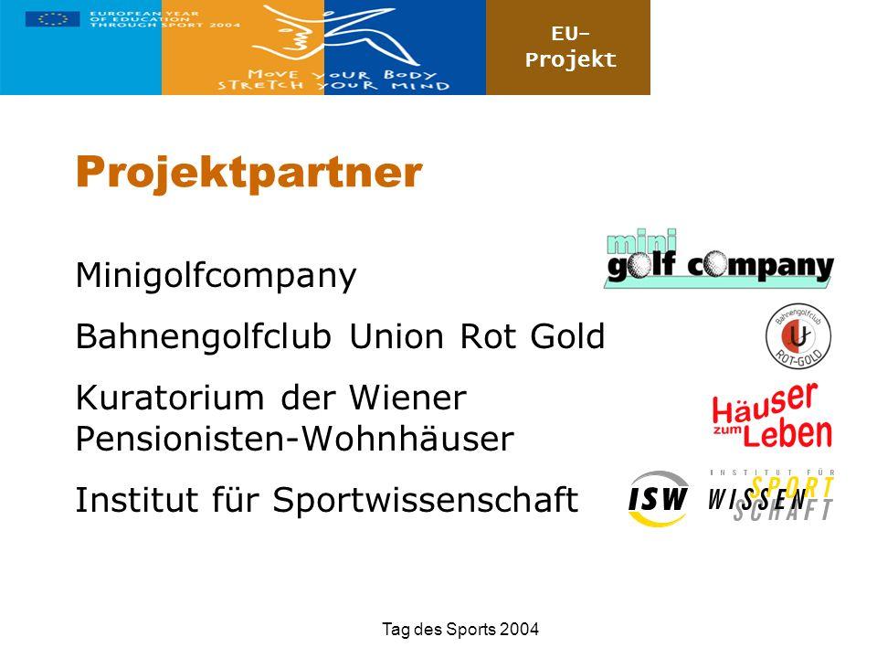 Projektpartner Minigolfcompany Bahnengolfclub Union Rot Gold