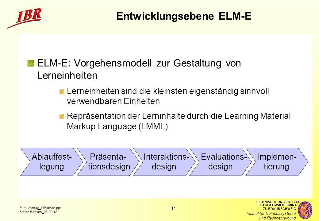 Entwicklungsebene ELM-E