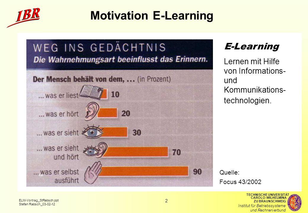 Motivation E-Learning