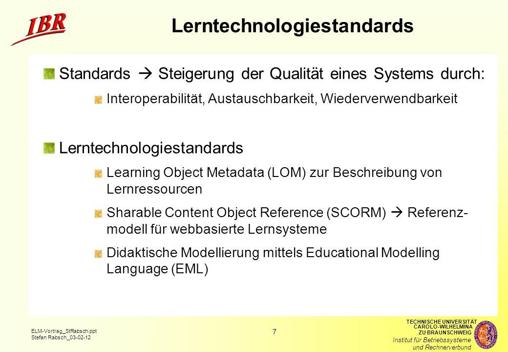 Lerntechnologiestandards