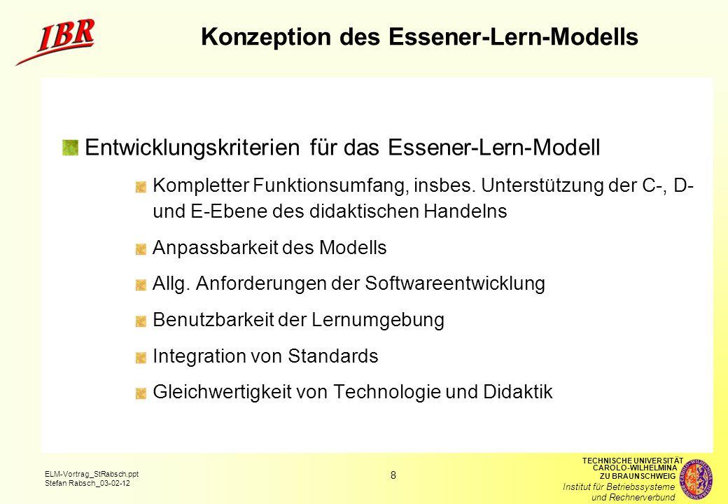 Konzeption des Essener-Lern-Modells